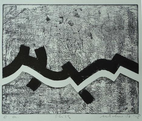 """""""Riss"""", Radierung,  ca 30 x 35 cm"""