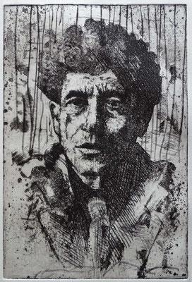 """A. Giacometti"" Radierung, Aquatinta, ca 29,5 x 20 cm"
