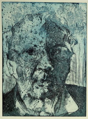 """Horst J."", Radierung, Aquatinta, ca 29 x 24,5 cm"