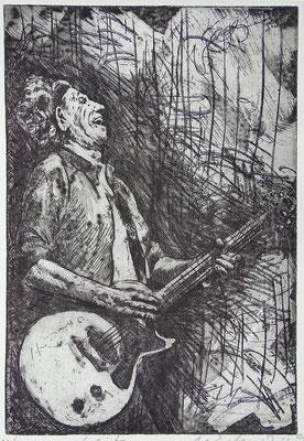 """Keith"", Radierung, Aquatinta, ca 24,5 x 16,5 cm"