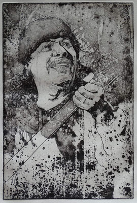 """Carlos S."" Radierung, Aquatinta, ca 29,5 x 19,5 cm"