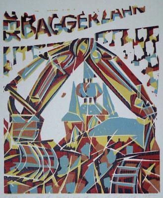 Und ewig nagt der Baggerzahn 2, Farbholzschnitt