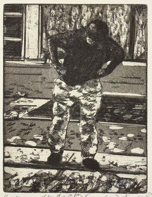 """""""Der Maler (GB)"""" Radierung, Aquatinta, ca 19,5 x 15,5 cm"""