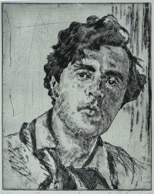 """Amedeo M."", Radierung, Aquatinta, ca 25 x 20 cm"