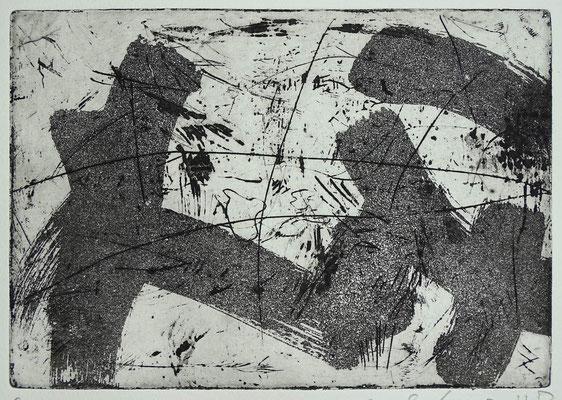 Radierung, Aquatinta, ca 13,5 x 19 cm