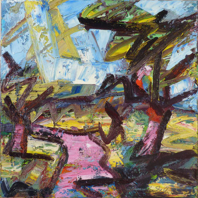 Mistelbaum, Öl/Lw  100 x 100cm