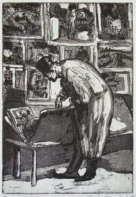 """nach Daumier"", Radierung, Aquatinta, ca 30 x 20 cm"