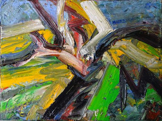 Großer Dünenbaum, Öl/Lw 60 x 80 cm, 2019
