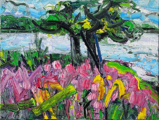 Sommersee, Öl/Lw 60 x 80 cm, 2019