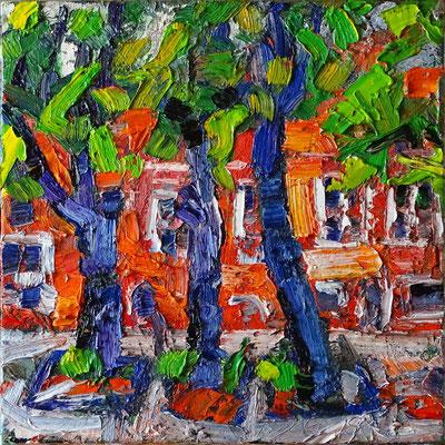 """Wismar"", Öl/Lw 70 x 70 cm, 2019"