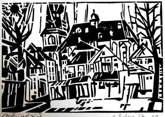 St. Wendel, Dom, Farbholzschnitt