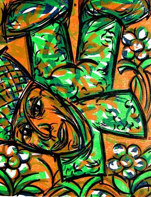 Der Grüne, Farbholzschnitt