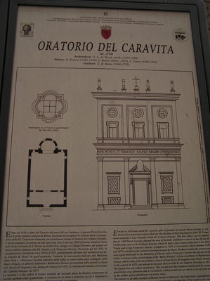 ローマ市内 オラトリオ デル カラヴィータ教会にて演奏