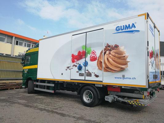 Lastwagenbeschriftung mit Folie in Luzern, BlackStone Werbetechnik GmbH