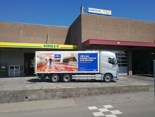 Lastwagenbeschriftungen in Luzern, Zug, Argau, Zürich