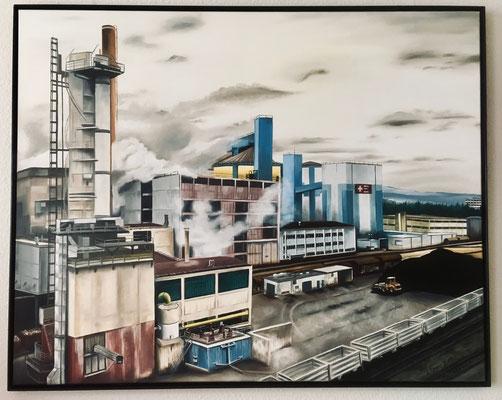 Zuckerfabrik Frauenfeld, 100x80cm, Preis mit Rahmen Fr. 680.-