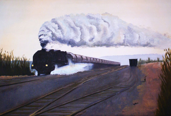 Lokomotive 2007, 82 x 56 cm, Preis Fr. 490.-