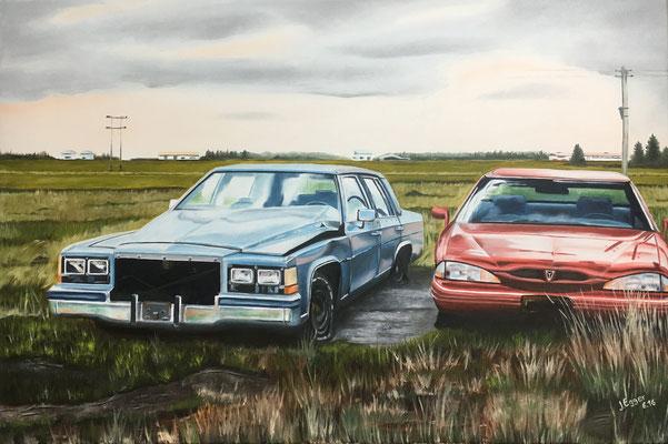 Schrott Autos in Island 2016, 90 x 60 cm, Preis Fr. 530.-