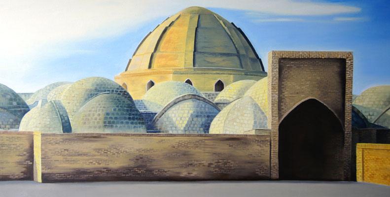 Souk in Usbekistan 2015, 100 x 50 cm,  verkauft