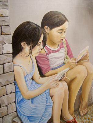 Mädchen in Mallorca, 3. 2016, 70 x 90 cm, Preis Fr. 610.-