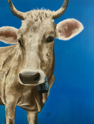 Kuh Flora, 70x90cm, Preis inkl. Rahmen Fr. 610.-