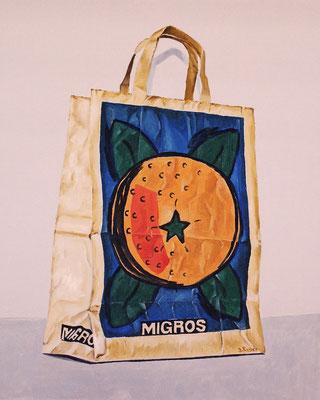 Migros-Tragtasche 2009, 40 x 50 cm, Preis Fr. 320.-
