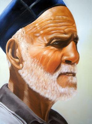 weiser Mann in Usbekistan, 60 x 80 cm, Preis Fr. 540 mit Rahmen