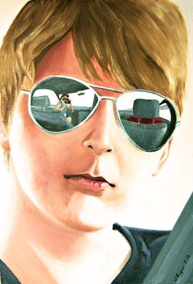 Michael mit Sonnenbrille, unverkäuflich