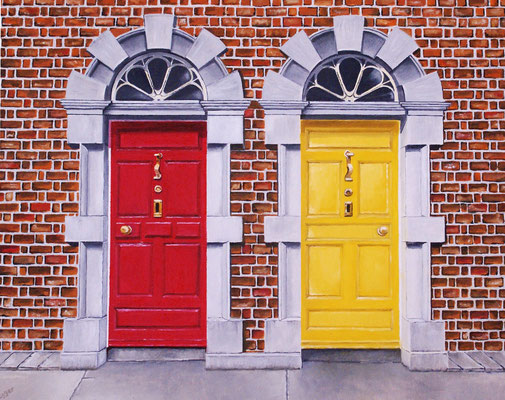 Haustüren in Irland 2007, 50 x 40 cm, unverkäuflich