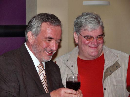 Café-Einweihung mit Bürgermeister & Pfarrer