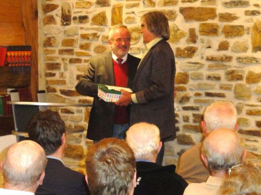 Jubiläumsfeier 2012: Bürgermeister und Vorsitzender