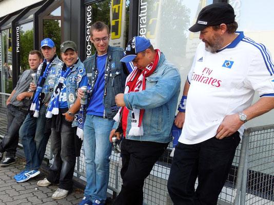 HSV : Braunschweig 4:0 31.08.2013 im Grillpavillon
