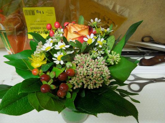Saisonauftakt 30.08.2014 Danke für die Blumen !