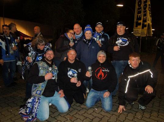Grillpavillon Hamburg HSV : Augsburg 19.12.2014 1:0 Hamburger Halunken www.pommeskoenig.de
