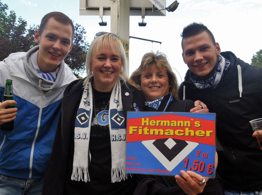 Imbiss Grillpavillon Hamburg HSV : Schalke 26.09.2015