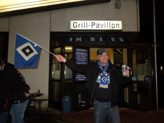 HSV : Hannover 08.02.2015 Grillpavillon Hamburg