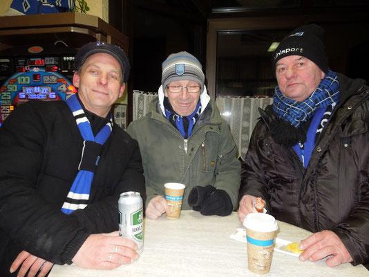 HSV : Schalke 27.01.2014 Die, die Eiseskälte und Spiel überlebt haben!
