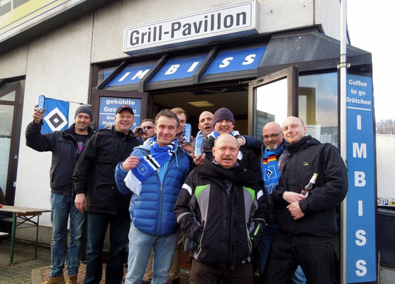 HSV Fanclub Nordsachsen im Grillpavillon Hamburg 31.01.2015