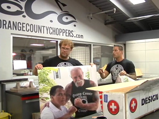 Ankunft bei Orange County Choppers