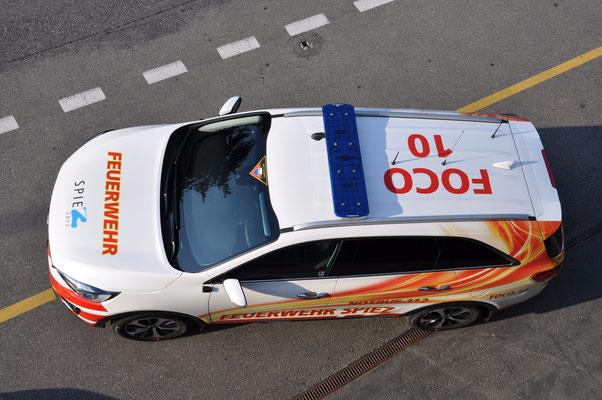 Beschriftung Einsatzfahrzeug Kia Sorento Feuerwehr Spiez