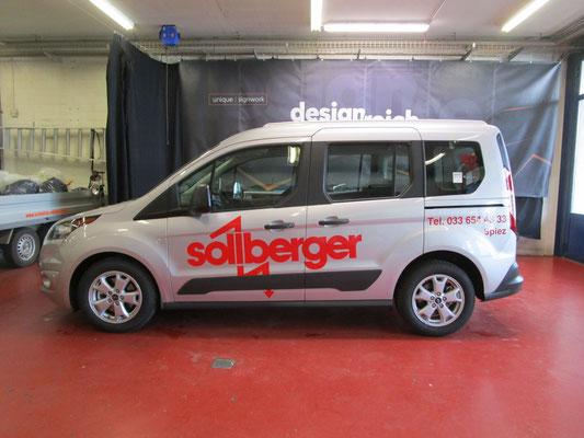 Autobeschriftung Sollberger Elektro Spiez