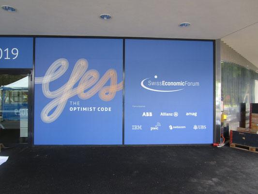 Swiss Economic Forum Interlaken Eingangsbeschriftung