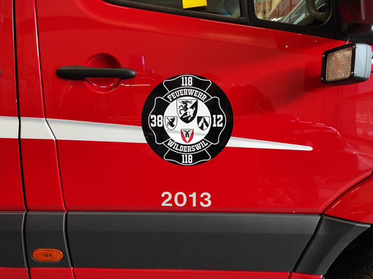 Werbekleber Feuerwehr