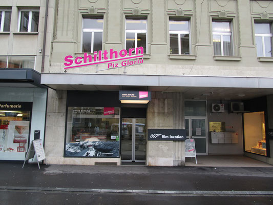Leuchtschrift Schilthornbahn