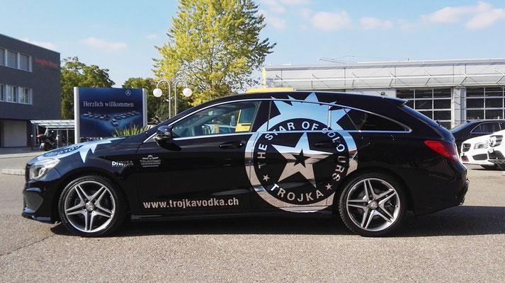 Autobeschriftung Mercedes Trojka