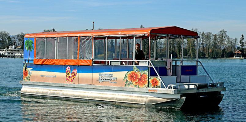 Werbefolien für Partyboot auf dem Thunersee