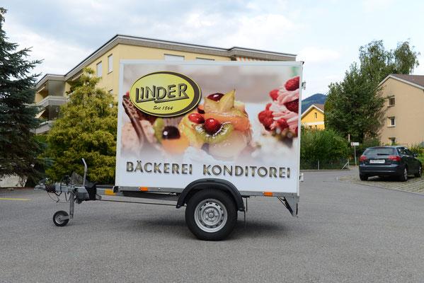 Anhängerwerbung Bäckerei Linder