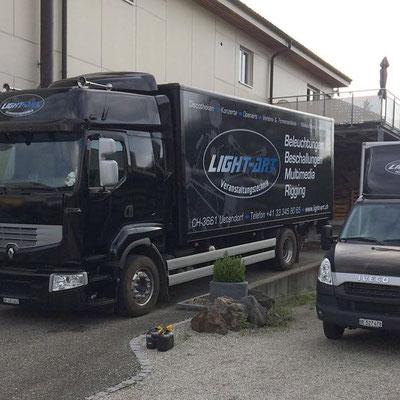 Beschriftung Light Art Truck
