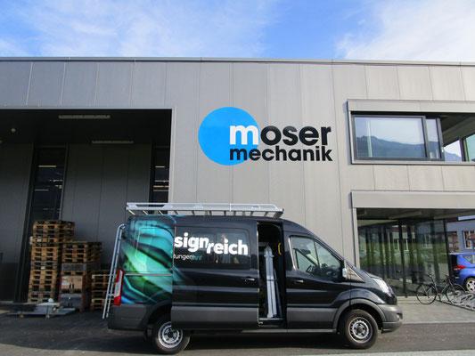 Metall Logo Moser Mechanik Frutigen