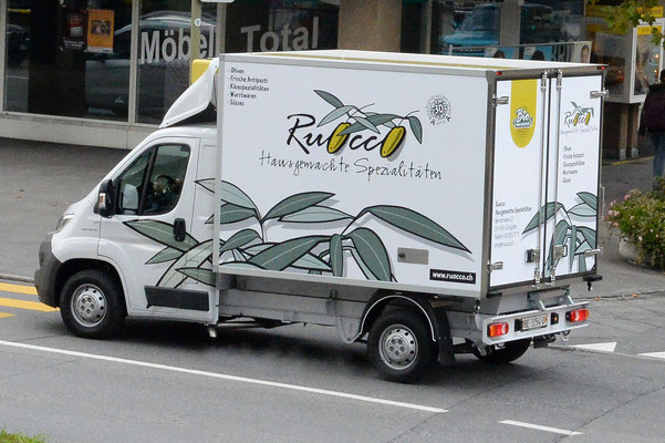 Beschriftung Lieferwagen Ruocco